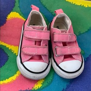 Converse all star Velcro toddler sneakers pink